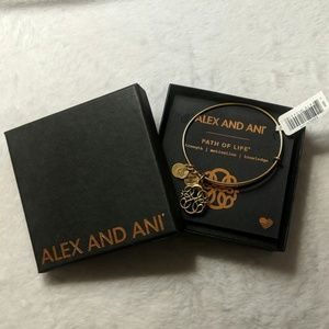 Alex and Ani Path of Life Charm Bangle in Gold